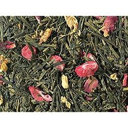 1kg - grüner Tee - Sencha - Erdbeere & Litschi - aromatisierter Grüntee