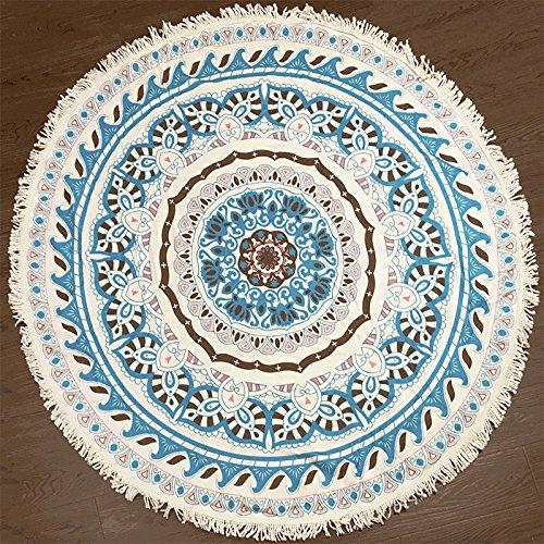 Earendel Muticolor - Toalla de Playa Redonda con patrón de Flores, de Microfibra, para Picnic, Bikini, Yoga, SPA, Manta, Nevera, decoración