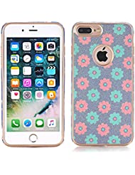 iPhone 7 Case, elecfan Flower Pattern Soft Cover Shell Phone Skin Super Slim Screen Protective Smart Case for Apple iPhone 7 4.7 inch, color A06, tamaño iPhone 7