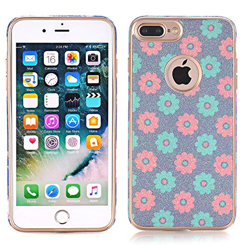 iPhone 7 Case, elecfan Flower Pattern Soft Cover Shell Phone Skin Super Slim Screen Protective Smart Case for Apple Iphone 7 4.7 inch A06