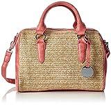 Tamaris Damen Neve Bowling Bag Tasche, Rot (Coral Comb.), 19.5x21x29.5 cm
