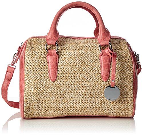 Tamaris Damen Neve Bowling Bag Tasche, Rot (Coral Comb.), 19.5 x 21 x 29.5 cm (Coral Hobo)