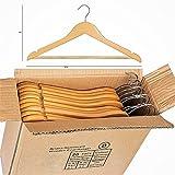 ARIANA HOMEWARE Ariana® Pack de 20alta calidad de madera percha multifuncional alta calidad sólida perchero de perchas (de madera, acabado natural