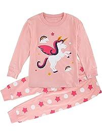 Mombebe Niña Pijamas Unicornio Infantil Verano Ropa Chica Manga Corta