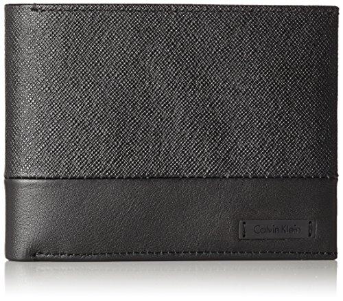 Calvin Klein Herren Adam Billfold 8cc Geldbörse, Schwarz (Black), 2.5x9.6x12.5 cm (Adams Leder-geldbörse)
