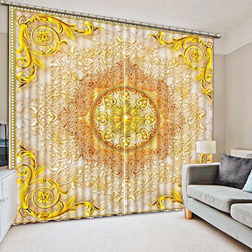 enster Vorhang Das Wohnzimmer Schlafzimmer Gardinen Wunderschöne Muster Luxus Vorhang Blackout 3D-Vorhänge 240cmX300cm 2 Pieces (Küche Vorhänge Meer)