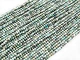 Green Forest Gems, DIY, Afrika Türkis, Echte, Natürlichen, 4mm, Schmuckperlen, Perle Rund Kugel Elegante Facettiert, über 40cm EIN STR. Africa Turquoise, Genuine, Natural, Elegant Faceted Round Bead
