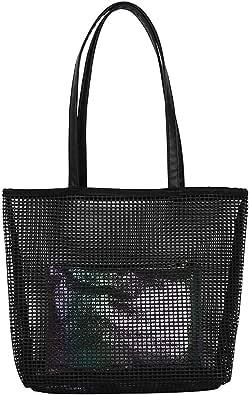 Lazzboy Frauen Einfache Vielseitige Umhängetasche Große Kapazität Handtasche Damen Leder Schwarz Europäische Stil Schultertaschen Shopper Tasche Henkeltasche Damentasche