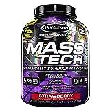 MuscleTech 7 lb Strawberry Mass Tech Protein Supplements