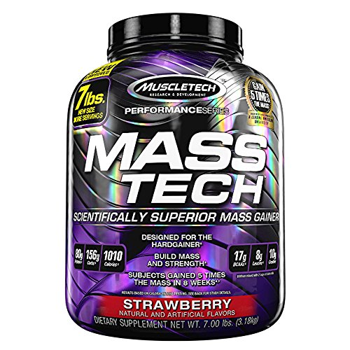 muscletech-7-lb-strawberry-mass-tech-protein-supplements