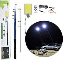 500W Multifunction Outdoor LED Fishing Rod Light 5M Camping Lantern Lamp with IR Remote 3 Modes