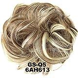 lzndeal Chignon de cheveux Queue de cheval postiche cheveux épaississement Chouchou updos fibre synthétique