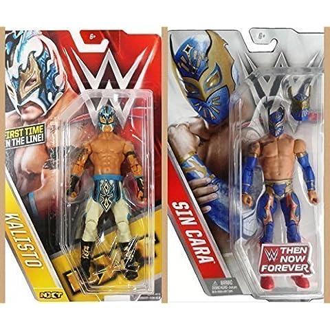 WWE KALISTO Y SIN CARA LUCHA DRAGONES SERIE 60 MASK BÁSICO ACTION LUCHA LIBRE FIGURA