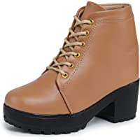 Bootco High Heel Girls Shoes High Ankle Boots for Women Sneakers for Girls and Special Occasion (BoT-9607)