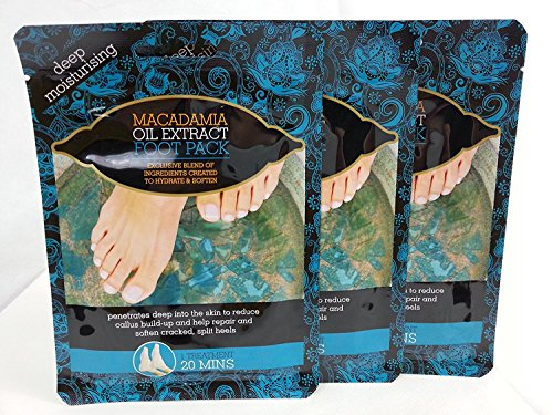 Multi Pack Offer 3 X Macadamia Oil Extract Deep Moisturising Foot Pack Socks Treatment Deep Moisturising Test