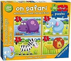 Ravensburger Italy 73016 - My First Puzzle Safari Progressivi, 2/3/4/5 Pezzi, Multicolore