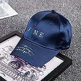 zlhcich Mercerisierte Männer und Frauen Baseball Cap Outdoor Stickerei Buchstaben Casual Cap JX851 Stickerei Blumen Marineblau einstellbar