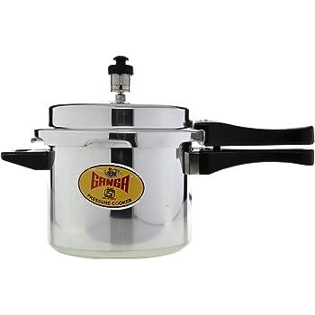 Ganga Outer Lid Aluminium Pressure Cooker, 7.5 Litres