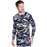 Mountain Warehouse Talus Camiseta térmica para Hombre - Camiseta Interior de Invierno con Manga Larga y Cuello Redondo - Aisl