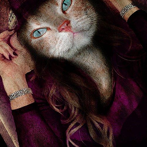Kätzchen Mädchen Niedlich Gesicht Katze Schick Vornehm Damen S-2XL Muskelshirt | Wellcoda Weiß