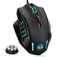Redragon M908 Impact RGB LED MMO Mouse avec boutons latéraux Souris de jeu filaire laser avec 12,400 DPI, haute…