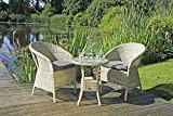 Garden Pleasure Tischgruppe Garten Tisch Sessel Stuhl Sitzgruppe Rattan Optik