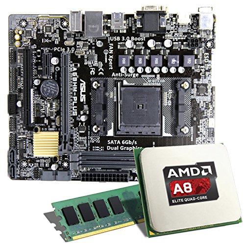 AMD A8-6600K / ASUS A68HM-PLUS Mainboard Bundle / 8192 MB   CSL PC Aufrüstkit   AMD A8-6600K APU 4x 3900 MHz, 8192MB DDR3, Radeon HD 8570D, GigLAN, 7.1 Sound   Aufrüstset   PC Tuning Kit