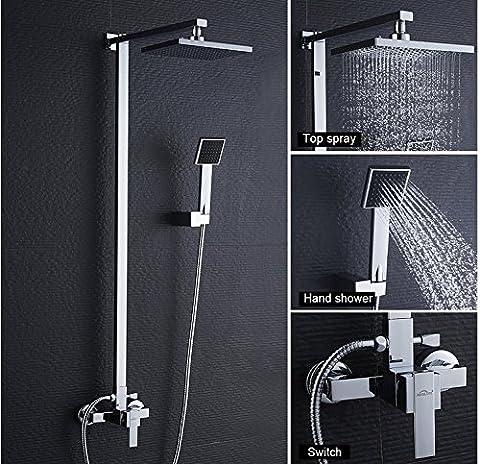 Auralum® Sets ensemble de Douche Colonnes de Douche Design Robinet