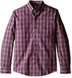 Cutter & Buck Men's Big and Tall Long Sleeve Wrinkle Free Garden Plaid, Multi, Large