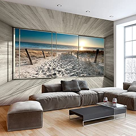Fotomural 50x35 cm - 3 colori da scegliere - Papel tejido-no tejido. Fotomurales - Papel pintado Naturaleza Paisaje Playa 3D Mar Sol