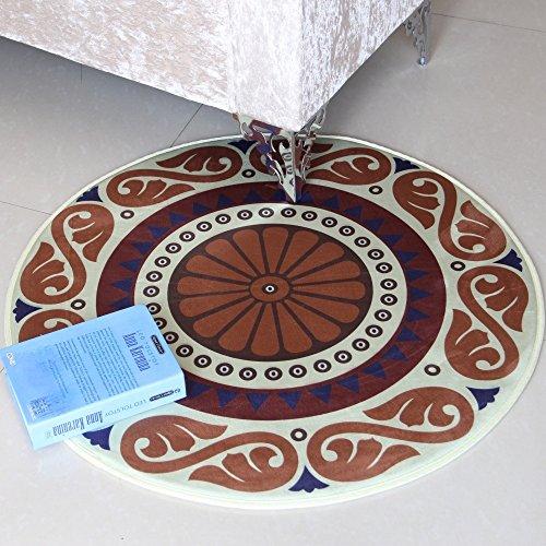 puterkissen Round Swivel Stuhl Teppich mit Korb Wohnzimmer Schlafzimmer Bedside Teppich Maschine waschbar Anti-Allergie, weich, warm (Farbe : #3, größe : 100CM×100CM) ()