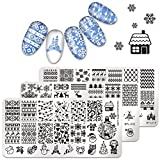 Born Pretty Nail Art Stamping Plate Christmas Winter Santa Snowflake Reindeer Tree Bell Manicure...