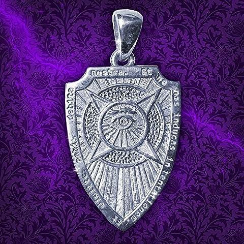 Talisman Amuleto Scudo Arcangelo Michele Argento