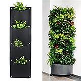 iBaste Pflanzwand Garten Hängende Vertikal Bepflanzung Taschen Wandgarten Pflanzwand Kräutergarten Blumentopf für Balkon Terrassen (4 Tasche,65cmx30cm)