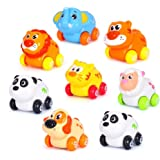 Early Education 1 years Olds Baby Toy Pull and Go Head Moving Animal Paradise Zoo Sets for Children & Kids Boys and…