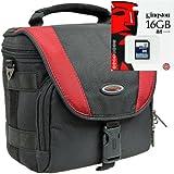 Fotos X-Treme Outdoor Set Bolsa para cámara con tarjeta SD de 16GB para Canon EOS 1300d 1200d 760d 750d 700d 80d Nikon D7200D610D500D5500D5300D3300D3200Sony Alpha 6300600051005000