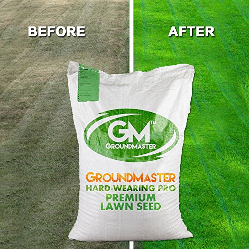 GroundMaster Hard Wearing Tough Garden Premium Back Lawn Grass Seed (1KG)