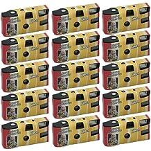 First Shot - Pack de 15 cámaras fotográficas desechables (con flash, 27 fotos,  sensibilidad ASA 400) (importado)