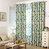 Broadroot Geometrische Dreieck Muster Fenster Vorhang Voile Vorhang für Schlafzimmer (Punch)