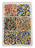 #8: eshoppee Multicolor 300 gm 2-5mm Glass Beads Seed Beads Cut Bead for Jewellery Making Art and Craft do it Yourself DIY kit. (Multicolor 1)