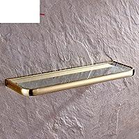 Bagno mensola di vetro/Antichi cosmetici oro monostrato