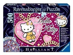Ravensburger 14921 - Funkelnde Hello Kitty - 500 Teile Brilliant Puzzle
