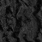 Kunstfell Wirbel – Schwarz — Meterware ab 0,5m —
