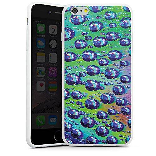 Apple iPhone X Silikon Hülle Case Schutzhülle Tropfen Licht Wasser Silikon Case weiß