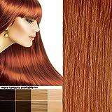 THE POSH HAIR.HaarverlängerungenBOUTIQUE.VollenKopfClipinechteREMYAchthaar Erweiterungen.UK-VERKÄUFER.(20 Zoll/50cm 350KUPFERDUNKELROT )8StückSALONPROFESSIONAL