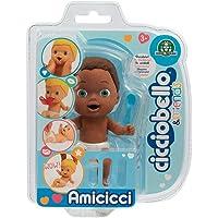 Cicciobello- CCB Amicicci Blister 1, Tenero Bebè Afro, Mini Personaggio Morbidoso con Accessorio, Multicolore, CC002400