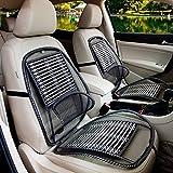 JIBO Autositz Sommer Taille von Universal Massage Kissen Luftkissen Auto Draht Kissen Cool Pad (Zwei Packungen),Black
