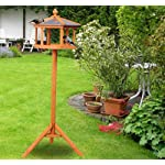 PawHut Deluxe Bird Stand Feeder Table Feeding Station Wooden Garden Wood Coop Parrot Stand 113cm High New 8