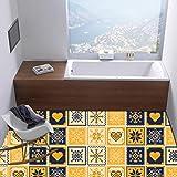 JY ART Wand-Aufkleber Küche Deko Badezimmer-Gestaltung - Küchen-Fliesen überkleben - Dekorative Bad-Gestaltung - Fliesen-Aufkleber 20x20 cm - 20 Stück,DT028, 20cm*20cm