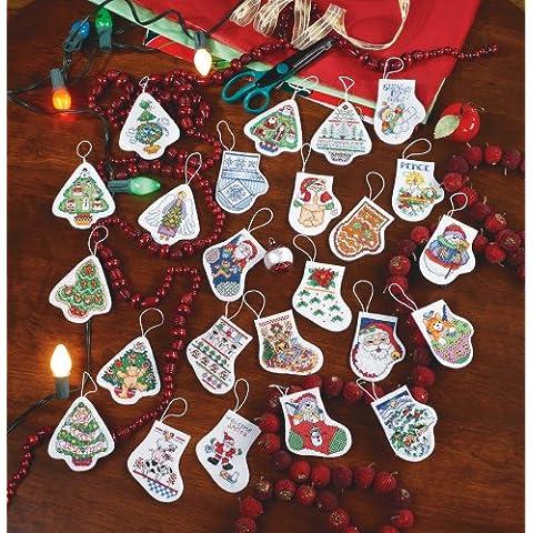 Janlynn metallo decorazioni festive contati Punto Croce Kit